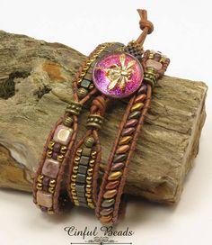 Leather Wrap Bracelet Women's Leather Wrap With Hippie Bracelets, Beaded Wrap Bracelets, Fashion Bracelets, Beaded Jewelry, Macrame Bracelet Patterns, Crochet Bracelet, Handmade Jewelry Business, Dragons, Bohemian Jewelry