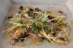 Episode 909: Red Snapper New-Style Sashimi with Olive Oil Sesame Flash