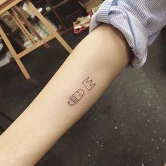 Basquiat adaptation tattoo on the right forearm. Tattoo artist:...