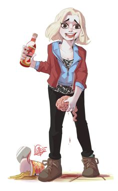 Cup noodles, Hot sauce, Brains. I think I found my new love. by Eugene Lim (iZombie)