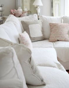Love that I live by myself... I get to redecorate any way I choose!! A comfy white couch is first.. Just gotta keep Sampson fur off of it! :)