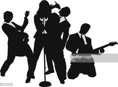 Las personas de negocios de rock band Silhouette, High Resolution Picture, Montages, Sketch, People, Illustrations