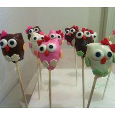 I need to find a cake pop maker for the Baby Party! Love these Owl Baby Shower Pops!!