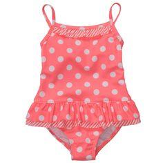 1-Piece Polka Dot Swimsuit   Baby Girl Swimwear