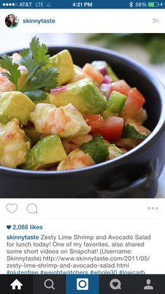 Zesty Line Shrimp and Avacado Salad