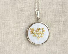 Braille jewelry - Beaded embroidered word from Skrynka by DaWanda.com