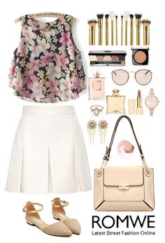 """""""Romwe 8"""" by amra-f ❤ liked on Polyvore featuring Proenza Schouler, Bebe, BEA, River Island, Tory Burch, Hermès, Ray-Ban, Bobbi Brown Cosmetics, NARS Cosmetics and Lancôme"""