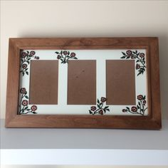 Hand Painted, Glass, Frame, Home Decor, Picture Frame, Decoration Home, Drinkware, Room Decor, Corning Glass