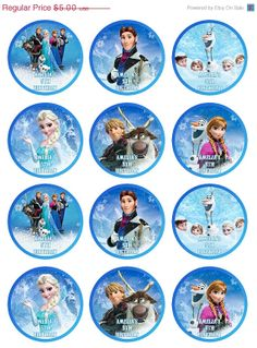 cupcakes toppers frozen