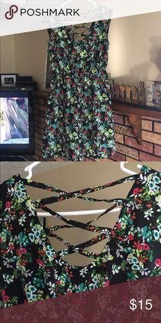 Summer dress Super cute summer dress. Lightweight and a Chris cross back. Xhilaration Dresses Maxi
