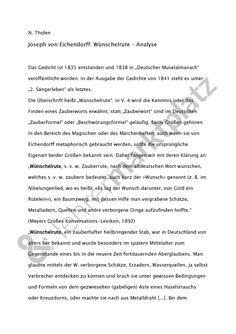 Gedichtanalyse zu Eichendorff: Wünschelrute, #eichendorff #josefvoneichendorff #gedichtanalyse #gedichtinterpretation #wünschelrute #lehrermarktplatz
