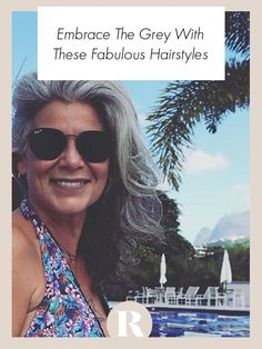Going grey doesn't mean that you don't care about your appearance. You can still have a great hairstyle with grey hair! Great Hairstyles, Cool Haircuts, Redhead Hairstyles, Teenage Hairstyles, Grey Hair Don't Care, Hair Care, Gray Hair, Beauty Secrets, Beauty Hacks