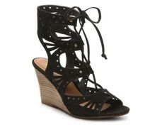 Women's Mari A. Crete Wedge Sandal - Black