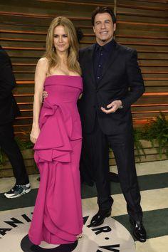 John Travolta junto a su esposa, Kelly Preston.