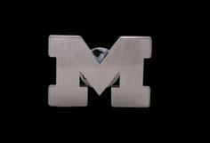Beliza Design | University of Michigan Pins - GW51Z0211 - Matte Stainless Steel Cut-Out Block 'M' Logo Lapel Pin (Medium)
