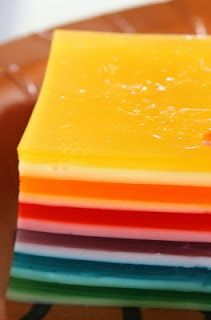 I know there are a million different versions of how to make this- well okay maybe three-  sweetened condensed milk, yogurt and sour cream. My favorite by far is the classic- sour cream one!  Find it here at Molly Crocker Cooking: Rainbow 12-Layer Jello