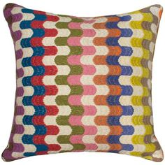 Jonathan Adler Bargello Pillow Puzzle Multi Color