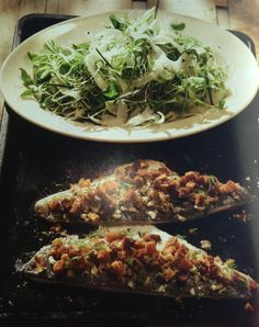 Sea bass fillets with crouton crust and a fennel salad - Homemade Summer, Yvette Van Boven