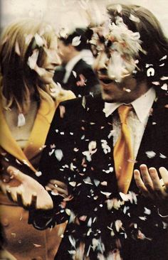 Paul & Linda McCartney on their wedding day. Their happiness is contagious.
