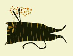 """Lillian playing w an abstract thought"".  Great graphic and humor! purrfect in so many ways."