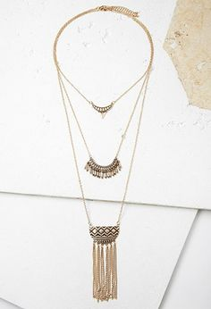 Etched Pendant Layered Necklace | Forever 21 | #f21accessorize
