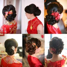 Chinese wedding hairstyles satinestudio.com bridal updo, Toronto
