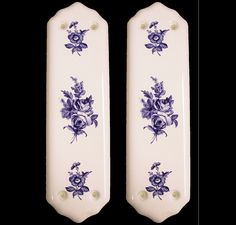 Details About 4 X White Porcelain Ceramic Door Finger Push