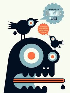 Dinosaur Jr. Concert Poster by Aesthetic Apparatus (SOLD OUT)
