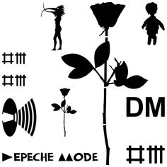 depeche mode all logos - Hledat Googlem Logo Google, Depeche Mode Black Celebration, Mode Logos, Mode Rose, Enjoy The Silence, Black Rose Tattoos, Music Bands, Good Music, Ink