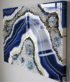 Resin Wall Art, Epoxy Resin Art, Diy Resin Art, Resin Artwork, Diy Resin Crafts, Resin Furniture, Crystal Resin, Diy Crystals, Acrylic Art