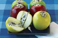 Apple-Cheese Snacks - use vegan cream cheese