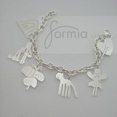 Your own childs drawings on a charm bracelet by formiadesign, $525.00