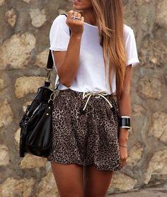 Glitter mini skirt and short top