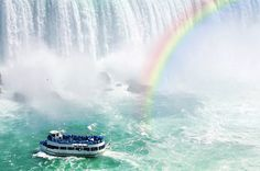 Niagara Falls, New York Located along the United States–Canada border is the famous Niagara Falls, a popular spot for tourists.