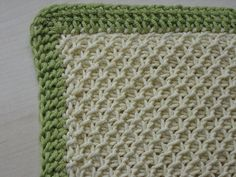 Tunisian crochet free pattern.  Smock Stitch Baby Blanket by Mary Greaney