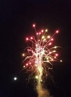 Full moon fireworks.
