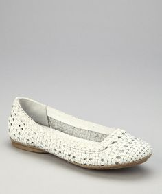 Take a look at this White Leather Hombrew Flat by White Mountain on #zulily today! $24.99