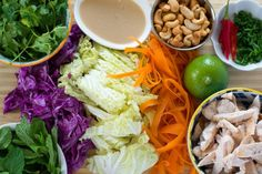 Asian Chicken Salad | A fresh, crunchy salad with a simple coconut milk dressing from Giulia Doyle of Audrey's | A Cup of Jo