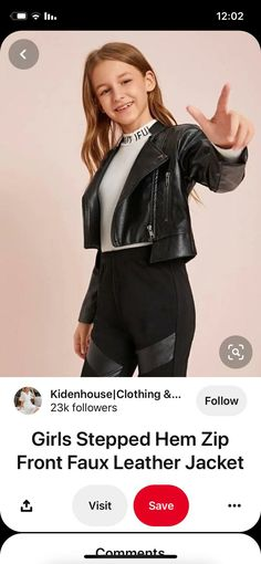 Faux Leather Jackets, Zip, Cute Clothes
