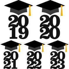 Silhouette Design Store - View Design #136103: graduation cap with year