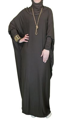 Viscose Butterfly Maxi Dress Abaya Various Colors by ShopIslam