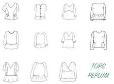 Retrouvez sur le blog la revue de patrons pour coudre des blouses peplum
