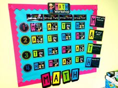 Creating math centers that are engaging! Math Workshop Rotation Board