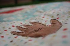 Beautiful handprint quilt idea