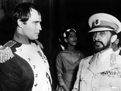 Marlon Brando and Haile Selassie awesome poeple hanging out together.