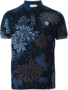 Moncler Floral Polo Shirt - Dell'oglio - Farfetch.com