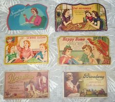 vintage sewing needle books - Google Search