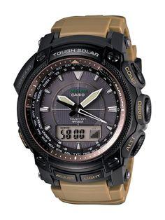 Casio Men Watches : Casio Men's PRW5050BN-5 ProTrek Multi-Function Atomic Timekeeping Watch