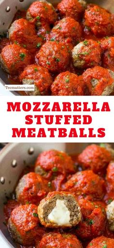 Today we are bringing you these amazingly delicious mozzarella stuffed meatballs. While you certainly can�t go wrong with the classic version of spaghetti and... #Yummy #Foods #Dinner #easyrecipe #dinnerrecipe #easydinner #tecmatters #recipe #recipes #ea