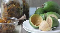 Harvest feijoa chutney recipe, NZ Herald – visit Eat Well for New Zealand recipes using local ingredients - Eat Well (formerly Bite) Relish Recipes, Chutney Recipes, Fruit Recipes, Cooking Recipes, Recipies, Savoury Recipes, Food Hub, Recipe Collection, Food To Make